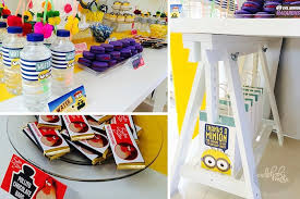 Minions Candy Buffet by Kara U0027s Party Ideas Minions Themed Birthday Party Planning Decor