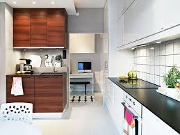 Ideas For Small Kitchen Spaces by Lavish Modern Small Kitchen Design Ideas Using Brown Wood Cabinet