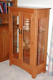 Mission Style Curio Cabinet Plans Red Oak Curio Cabinet