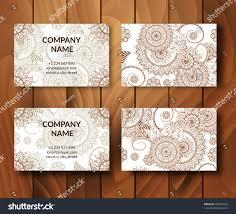 vintage business cards set ornamental mandala stock vector
