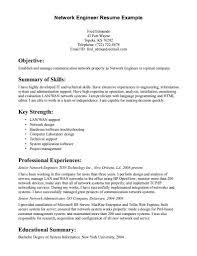 Network Administrator Skills Resume Network L1 Support Resume Sample Network Engineer Resume Resume