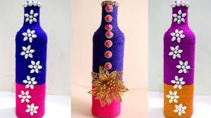 Diy Wine Bottle Decor by Diy Wine Bottle Home Decoration Idea Empty Wine Bottle