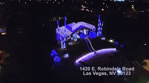 Christmas House Light Show by Dji Inspire 1 And The Robindale House Christmas Light Show Las
