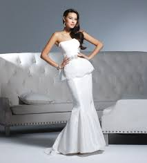mermaid wedding dresses 2011 strapless mermaid wedding dress by david tutera by faviana