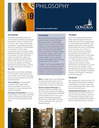 philosophy academic brochure gonzaga university by gonzaga