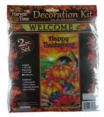 faerynicethings welcome banner and happy thanksgiving door cover