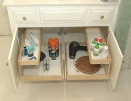 vanity storage bathroom roll out shelves blog austin for the