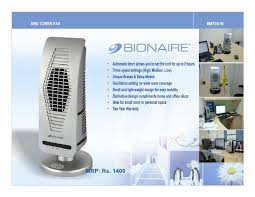 tower fan with air purifier bionaire fans air purifiers