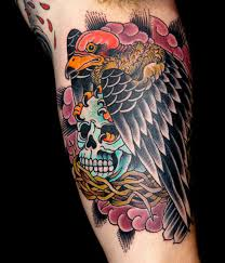 vulture skull tattoo pictures to pin on pinterest tattooskid