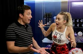 miley cyrus and jimmy fallon freak out fans in tonight show