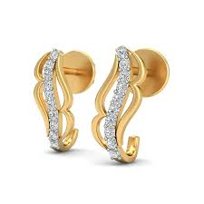 buy earrings online wilma gold diamond earrings buy gold earrings online india