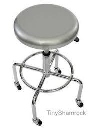 Rolling Bar Stool Rolling Shop Stool Swivel Chair Adjustable Garage Seat Heavy Duty