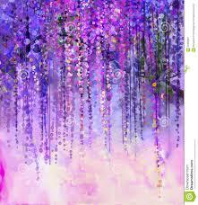 purple flowers purple flowers wisteria watercolor painting illustration