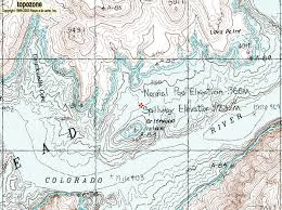 lake mead map lower superimposition rapid