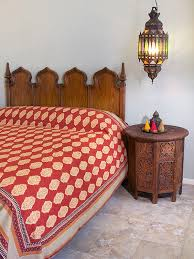 Moroccan Coverlet Moroccan King Bedspread India Inspired King Bedspread Red Orange