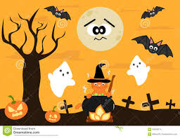 background halloween images cartoon halloween background for kids stock vector image 59438274