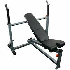 Olympic Bench Press Dimensions Force Usa Adjustable Olympic Bench Press Model F Aob Auction