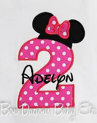 personalized minnie mouse birthday number shirt minnie available