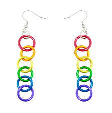 dangle earring lgbt pride rainbow linkage dangle earrings and pride