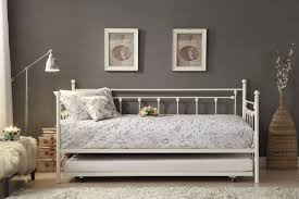 homelegance lorena white metal daybed with trundle dallas tx