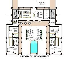 luxury house plans with pools luxury u shaped house plans 19 home designs design