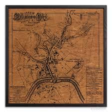 artwork on wood ellicott city map by barton