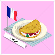 crepe with france flag vector image 1567974 stockunlimited