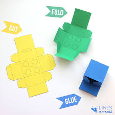 lego gift boxes with free templates lines across
