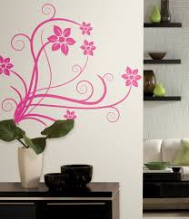 hot pink floral swirl scroll wall stickers decals for girls additional images
