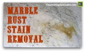 How To Remove Rust Stains From Bathtub Naturally Marble Rust Stain Removal