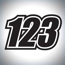 motocross jersey numbers 3 x custom race numbers vinyl stickers dirt bike motocross trials