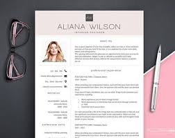 Picture Resume Template Resume Templates Etsy