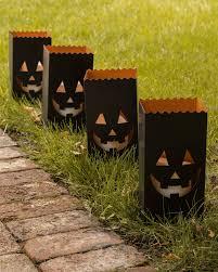 Halloween Flags Outdoors Set Of 4 Halloween Luminaries Balsam Hill