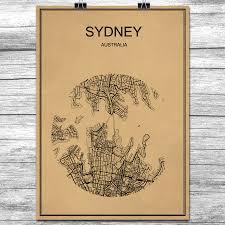 Cheap Home Decor Online Australia by Online Get Cheap Antique Maps Australia Aliexpress Com Alibaba
