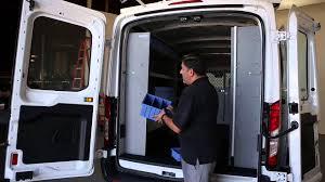 Cargo Van Shelves by Ford Transit Cargo Van Shelving Storage System Youtube