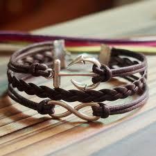 cord bracelet with charm images Infinity anchor bracelet tutorial personalized bracelets jpg