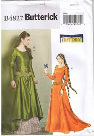 butterick halloween costumes sewing pattern for misses floor length gored dress and skirt with