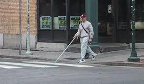 Blind Man Cane Travel Skills Accessible Design For The Blind