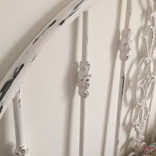 White Metal Headboard by Painting A Metal Headboard With Old World Paint Metal Beds