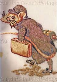 beatrix potter crewel embroidery kit johnny town mouse