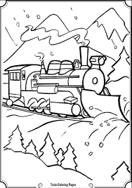 coloring pages summer scene amazing steam train