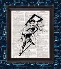 nerdy home decor nikola tesla real life superhero lightning science art comic