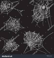 halloween raven background black and white spider hand drawn net set isolated stock vector 578648041
