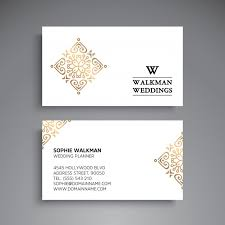 wedding planner business wedding planner business card vector premium