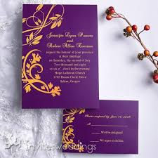 purple and gold wedding invitations purple and gold summer wedding invitation iwi071 wedding