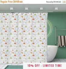 dinosaur shower curtain t rex laser eyes 70