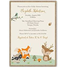 woodland baby shower invitations forest animals baby shower invitations gender