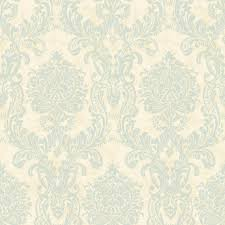 graham and brown kyoto cork damask pale blue silver wallpaper