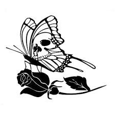 15 8cm 13 2cm tribal tattoo butterfly skull rose flower car