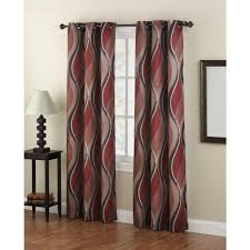 Drapes Grommet Top Lichtenberg Semi Opaque No 918 Casual Intersect Paprika Printed